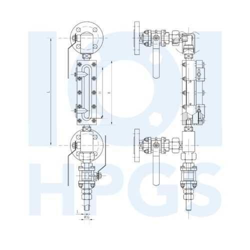 HPGS płynowskaz z ramką refleksyjną prosty 1 NA STR 500x500 1