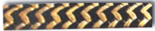 szczeliwo teflonowo-aramidowe_ZEBRA wyrównanie obu przędzy olejem silikonowym 4220