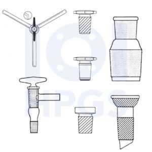 szkło laboratoryjne-korki, krany, łączniki